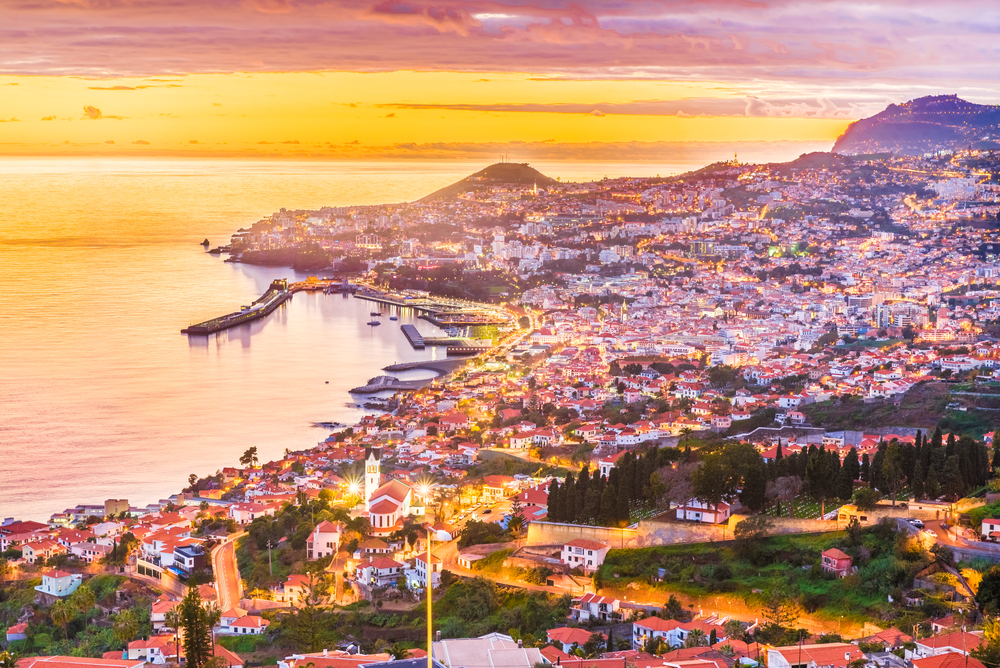Vista aérea do Funchal